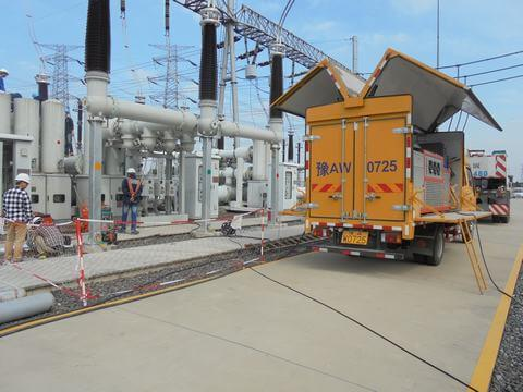 Sulfur Hexafluoride High-voltage gas-insulated switchgear leak detection rental